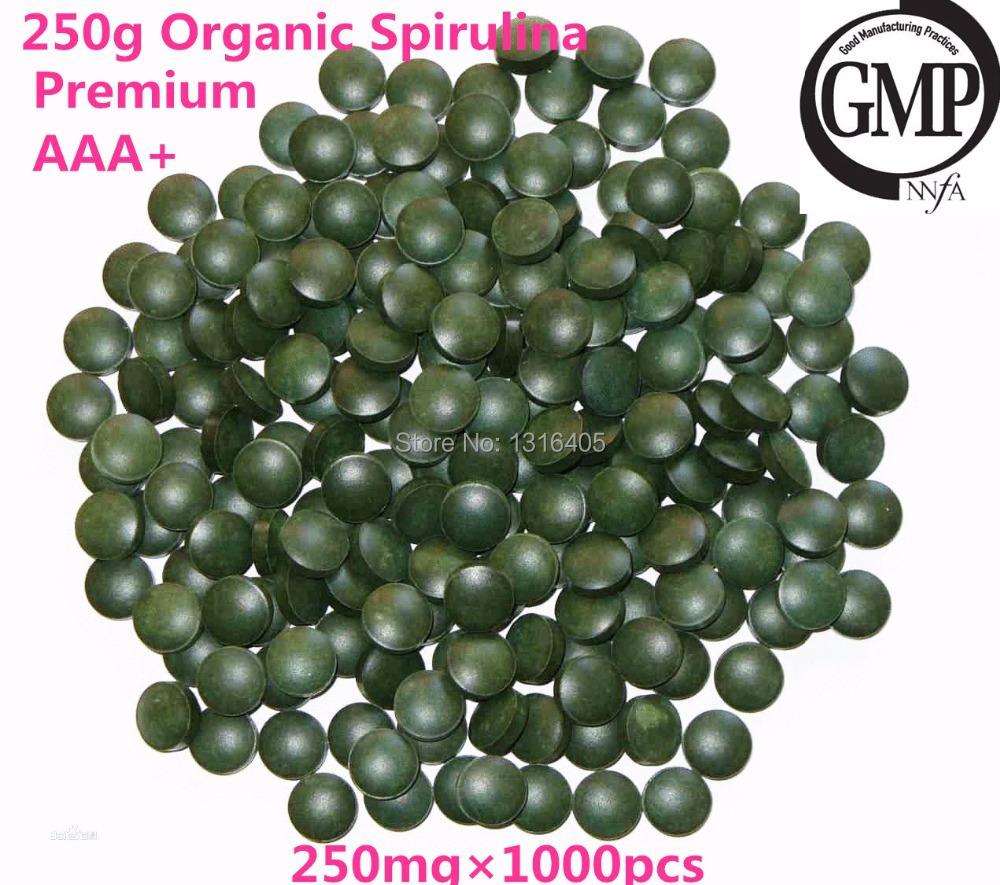 250g ( 259mg x 1000 Pcs ) 100% Pure Natural Anti-Fatigue Loss Weight Enhance-Immune Organic Spirulina Tablet Health Food<br><br>Aliexpress