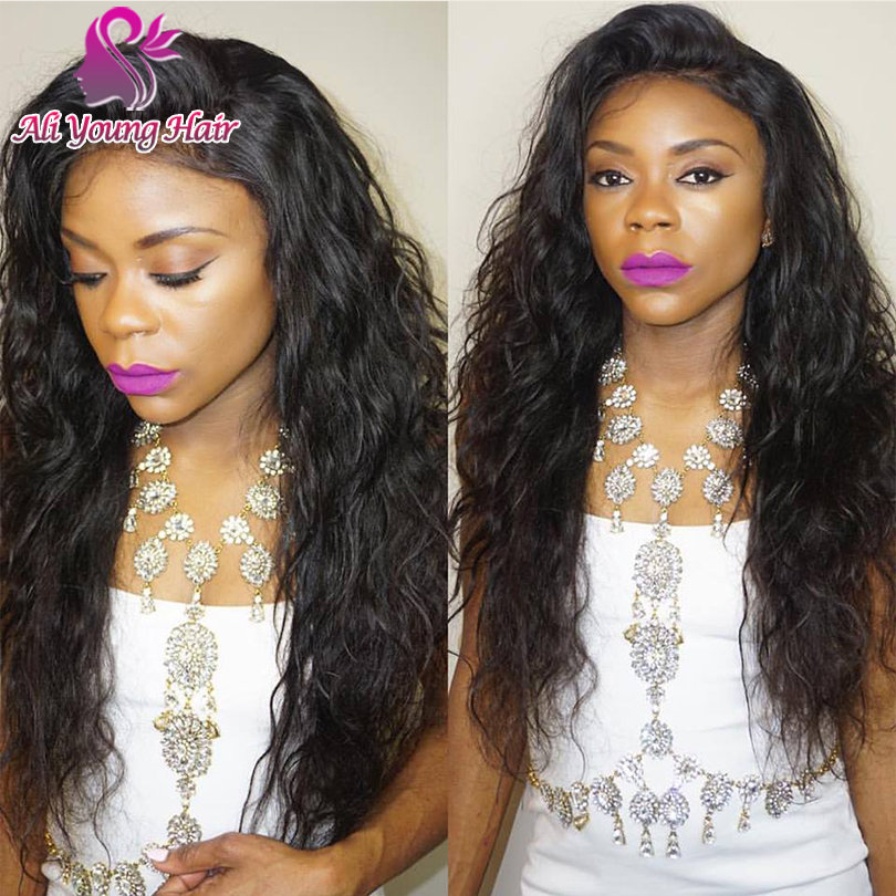7A Virgin Malaysian Glueless Full Lace Human Hair Wigs Natural Curly Lace Front Wigs For Black Women With Baby Hair U Part Wig<br><br>Aliexpress