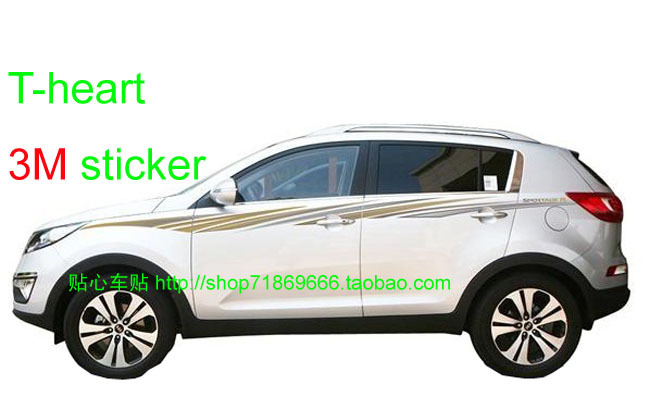 special car body supplies Sticker Words Car Styling Kia Sportage Stickers Refires decoration Garland Color 3m - guangzhoug joemy auto lights store