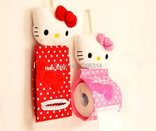 freeshipping 2pcs Cute fashion Style Soft Plush Hanging Roll Toilet Paper Holder Tissue Cover for House(China (Mainland))