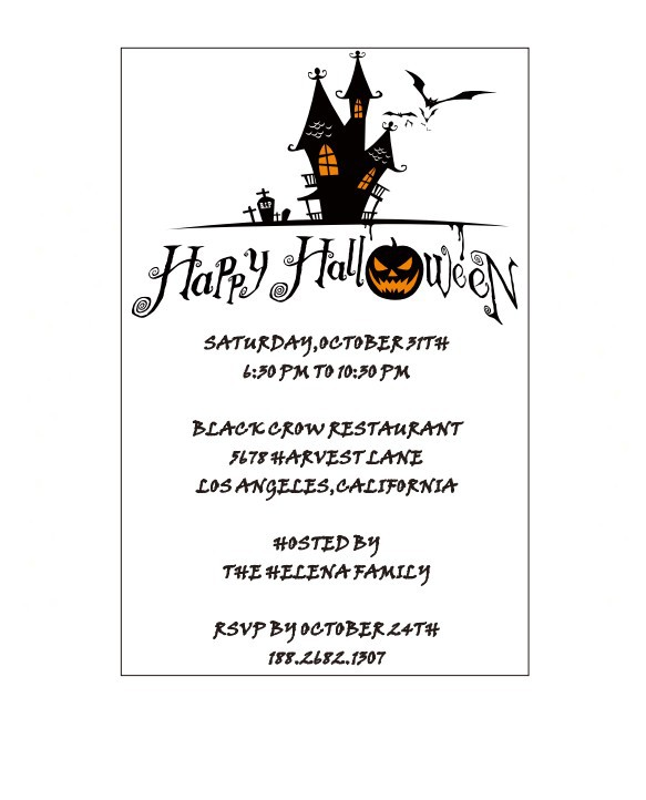 13*20cm clear acrylic halloween party invitation card with funny pumpkin head elements(China (Mainland))