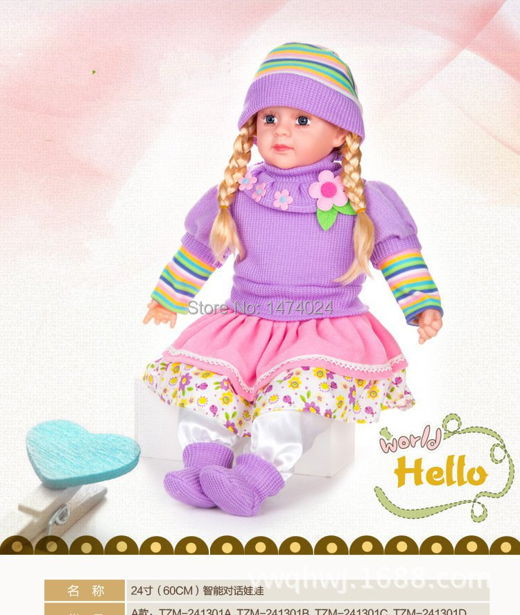 New Arrival Baby Alive English Language Music Singing Toy Dolls Educational Doll Intelligent baby doll 24inch dolls for girls(China (Mainland))