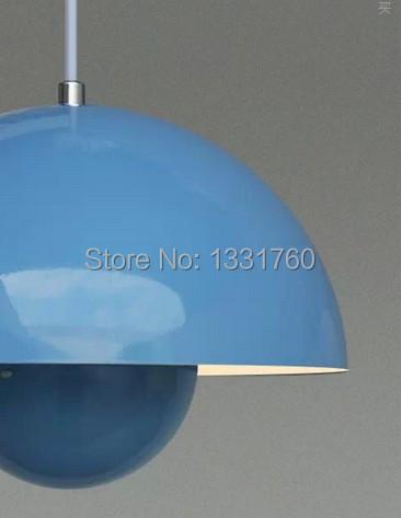 Verner Panton Flowerpot pendant lamp living room Metal Flower Pot Modern white blue red green yellow large(China (Mainland))