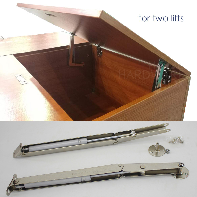 2x cabinet door lift up stay pneumatic arm mechanism support tatami seat storage(China (Mainland))