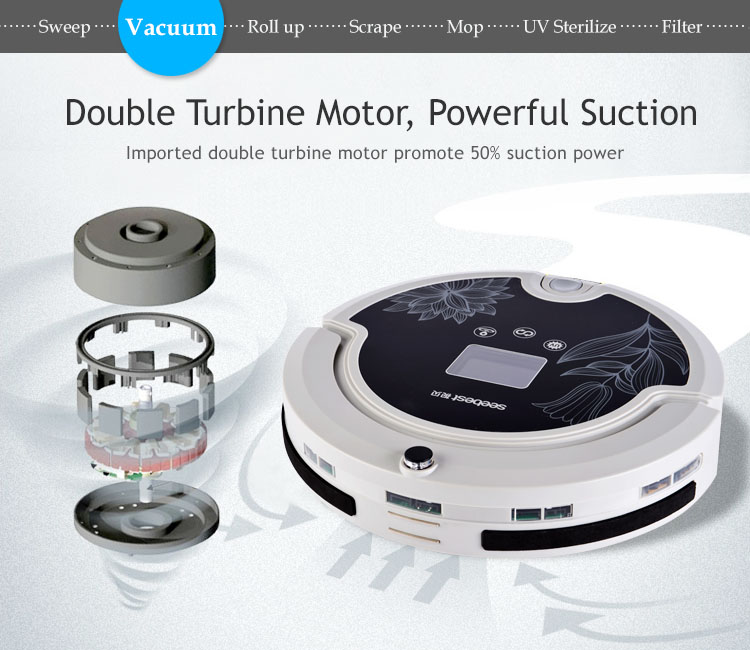 2016year very hot best sale!high quality Aspirador and Auto Recharge Robotic Vacuum Cleaner, Rolling Brushes and Vacuum(China (Mainland))