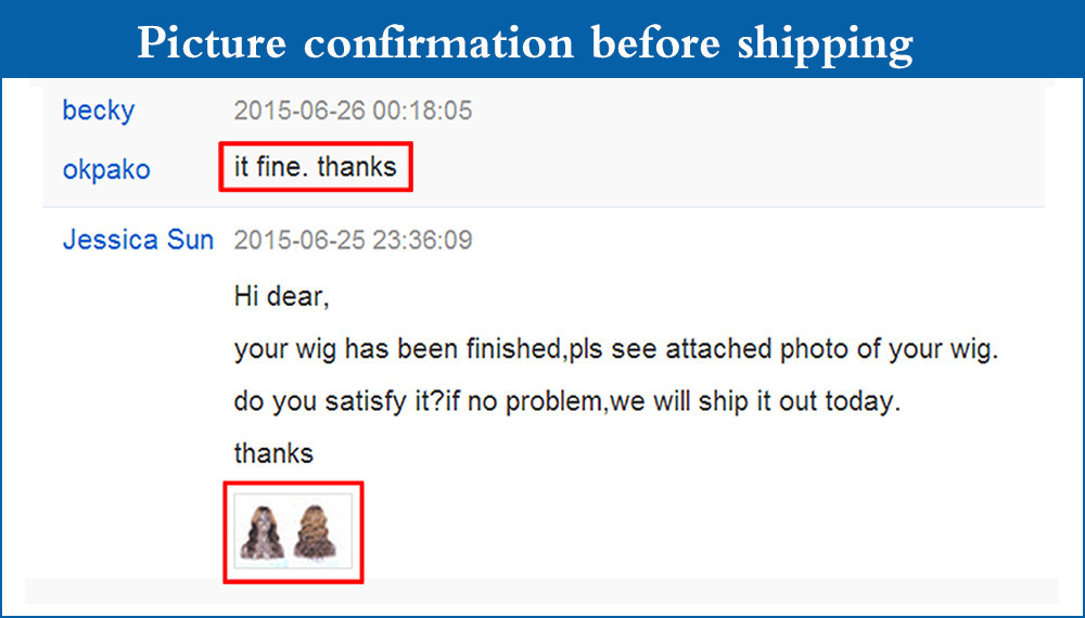 Picture confirmation before shippingyi