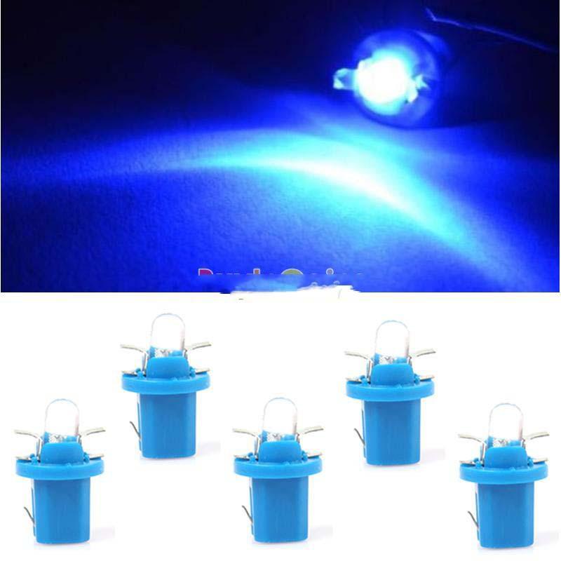MiniBid Best choice 1 10Pcs T5 B8.5D Car Gauge LED Speedo Dashboard Dash Wedge Light Bulb Blue 12V Hot promotion!(China (Mainland))