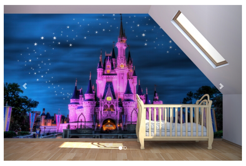 Fairytale castle mural wallpaper for children 39 s bedroom for Children s mural wallpaper