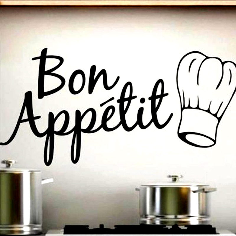 free shipping Hot Sale Bakery Wall Stickers Vinyl Removable Home Decor Chef Hat Wall Decals Kitchen Restaurant(China (Mainland))