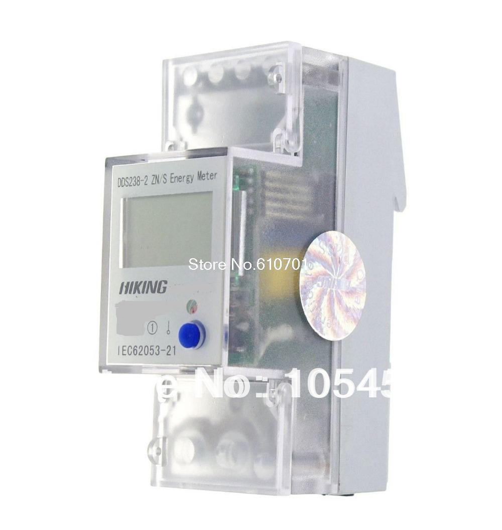 5-65A 230V 50Hz Single Phase Reset To Zero DIN-rail Kilowatt LCD Hour kwh Meter<br><br>Aliexpress