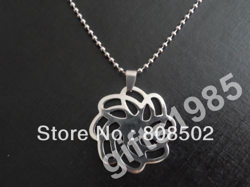 Super good quality seamless stainless steel pendant laser produced peony and High-end jewelry accessories DIY tool