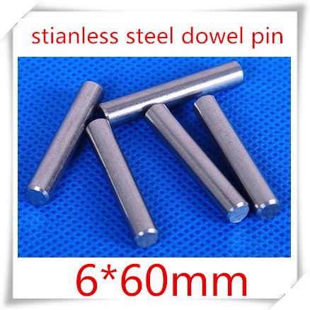 20pcs/lot  6*60mm stainless steel dowel pins/ 6mm cylindrical pin<br><br>Aliexpress