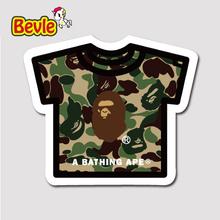 Buy Bevle 1452 Bathing Ape T-shirt Fashion 3M Sticker Waterproof Laptop Luggage Fridge Skateboard Car Graffiti Cartoon Tide Sticke for $1.50 in AliExpress store