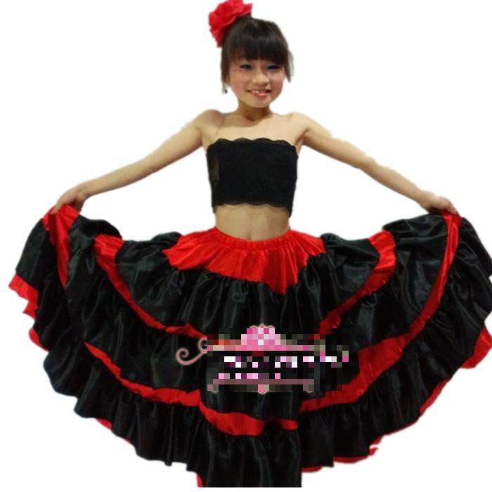 2019 Kids Flamenco Dance Dress Girl Flamenco Dresses Spanish Paso