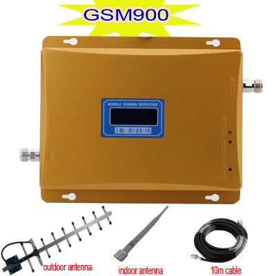 GSM Signal Repeater LCD Display GSM900MHZ Cell Phone Signal Booster GSM 900 Repeater 900mhz Celular Repetidor with yagi antenna(China (Mainland))