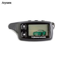 Anysane wireless remote control russia tomahawk tw9010 two way car alarm control system LCD remote keyfob for vehicle security(China (Mainland))