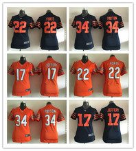 2016 Women Chicago Bears, 34 Walter Payton Kyle,17 Alshon Jeffery 22 Matt Forte Orange navy,(China (Mainland))