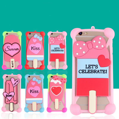 New Fashion Cartoon Ring Girl Rabbit Ears Stand Soft Silicone Case for leEco Le S3 Mobile Phone Cases Bumper Frame Accessories(China (Mainland))