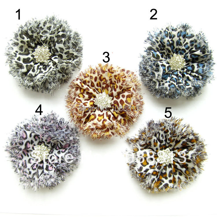 30pcs/lot leopard printed shabby chiffon flowers+rhinestones.Free shipping 6.5CM mix colors jewelry baby headband DIY flowers.Одежда и ак�е��уары<br><br><br>Aliexpress