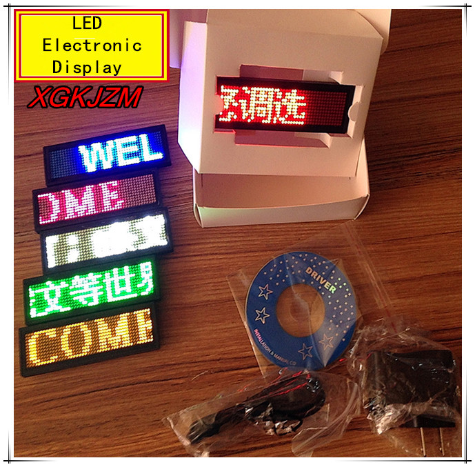 LED electronic display LED badge business card Ping scroll advertising screen LED Trademark led Work card Breastplate Job number(China (Mainland))