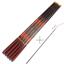 Carbon Fiber Carp Fishing Rod With Front 3 Sections Hand Pole Ultra-light Ultrafine Fishing Pole 3.6 4.5 5.4 6.3 7.2M(China (Mainland))