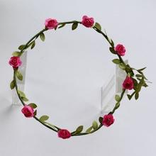 Buy Korean Wreath Flower Crown Wedding Garland Headband Women Forehead Hair Accessories Beach Holiday Party Photo Hair Band Hairband for $1.50 in AliExpress store