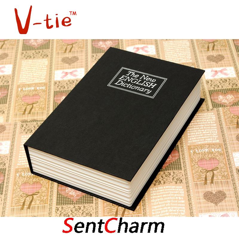 2016 Creative red blue black coffee book safe Cash Money Jewellery organizador, book shape safe secret box with password cofre(China (Mainland))