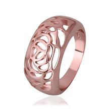 (Min $10 mix orders) New Arrival 18K Rose Gold/Gold Plated Simple Pattern Fashion Rings Finger Ring Size 8 R569(China (Mainland))