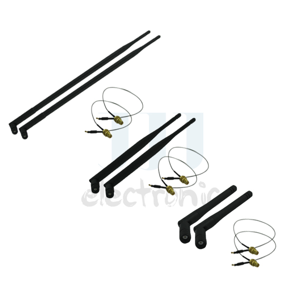 2 2dBi + 2 6dBi + 2 9dBi RP-SMA Antenna + 6 12in U.fl cables for Netgear Routers WNDR3700(China (Mainland))