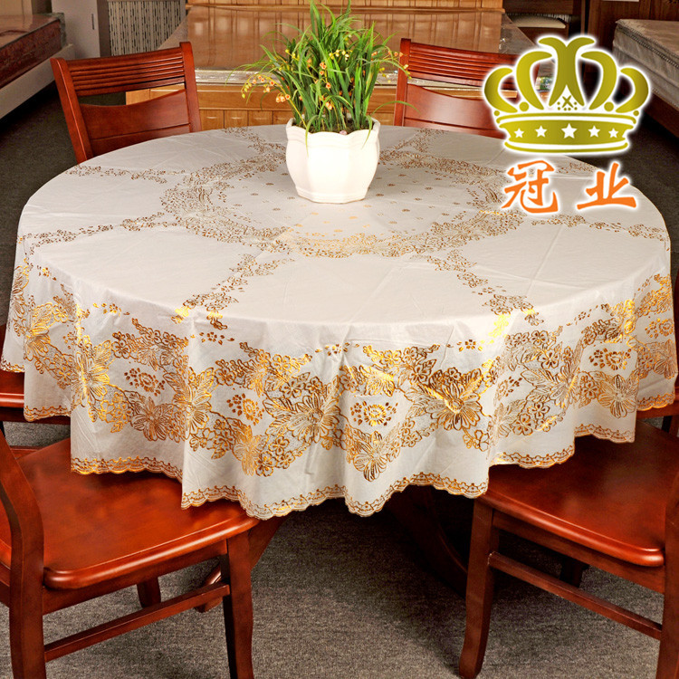 Round Table Cloth Table Cover 134cm 152cm And 185cm In Diameter Round Tablecloth Luxury Table Cloths For Weddings Free Shipping(China (Mainland))