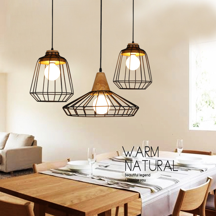 retro loft lustre pendant lights vintage industrial cage pendant lamps bar hanging light fixture. Black Bedroom Furniture Sets. Home Design Ideas