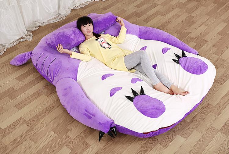 2016 170*200cm Large Size Big Totoro Double Bed Soft Memory Foam Mattress Pad Sleeping Giant Cartoon Anime Tatami vbi(China (Mainland))