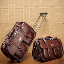 20 ''zoll Trolley Gepäck, Vintage Koffer, Braun bordpaket, Business Reisetaschen Männer Frauen Angebote(China (Mainland))