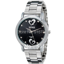 MIKE 8192 women watch Heart  Heart Print Women's Analog Watch with Stainless Steel Strap
