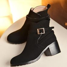 plus size 40 41 42 43 popular shoes fashionable boots sweet style RoundToe women - LUKU CO., LIMITED store