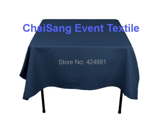 Extra Thicker 150cm Square Navy Blue Table Cloth, Polyester Plain Table Cloth,Square table cloth For Wedding &Hotel&Banquet(China (Mainland))