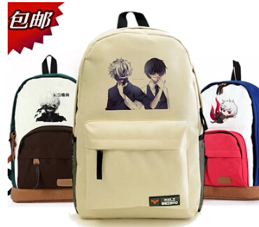 Tokyo Ghouls 8 styles Ken Kaneki mask Anime Backpacks Large size Canvas Japanese School Students Book Bag(China (Mainland))