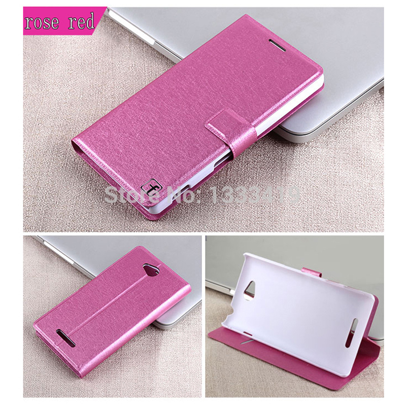 Fashion Ultra-thin Quality Leather Cover Case Sony Xperia C S39H C2305 Card Holster Stand Flip Phone Cases