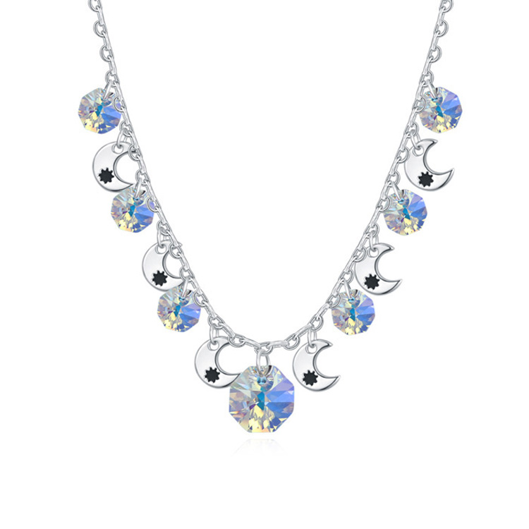T112784 AAA crystal necklace - The Song of Desert ( color white )(China (Mainland))