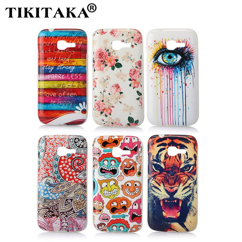 Soft TPU Cover Fashion Eye Flower Windbell Tiger Cute Cartoon Model Phone Case for Samsung Galaxy Star Pro S7260 S7262 GT-S7262(China (Mainland))