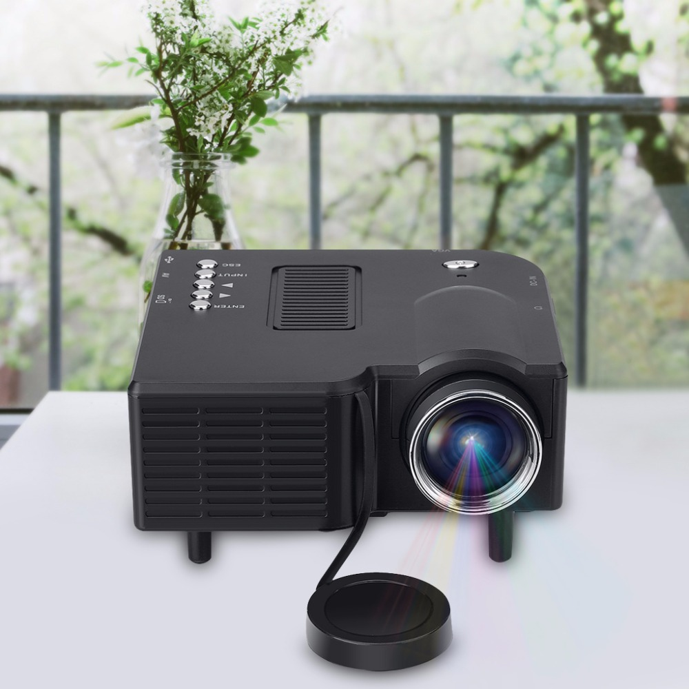 Excelvan GM40 Portable Mini Projector Multimedia Cinema Theater Digital LED Projector VGA/USB/SD/AV/HDMI Projector Updated UC28(China (Mainland))