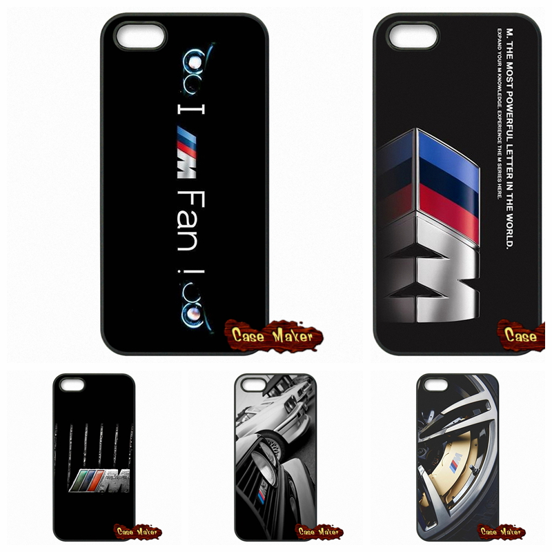 For BMW M3 M5 M4 Power logo Case Cover For Apple iPod Touch 4 5 6 iPhone 4 4S 5 5C SE 6 6S Plus 4.7 5.5(China (Mainland))
