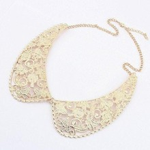 Min order is 10usd ( Mix order ) 41B33 Fashion exaggerated delicate Pattern collar necklace choker Free Shipping—-Lady shop