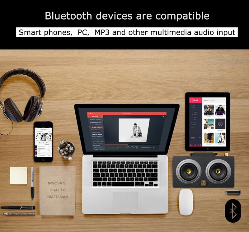 speaker wood USB microphone FM 12