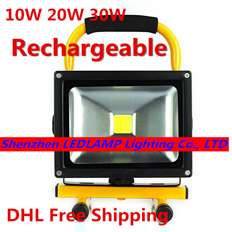 Emergency battery flood lights : Led floodlight with battery rechargeable flood light