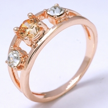 Free shipping Dropship party Show  Sexy  Shine 18K Rose Gold Filled  Cubic Zircon  Women Lady Fashion  Ring Jewelry R0053