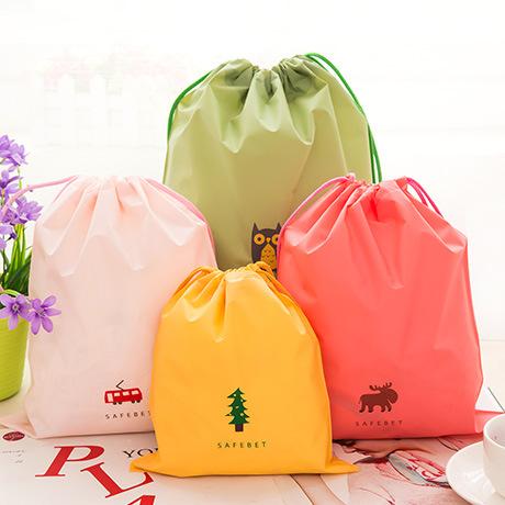 2015 Sale Vacuum Bag 8pcs/lot Cartoon Pattern Portable Drawstring Bags New Design Nylon Storage Eco-friendly Recyclable Wz045(China (Mainland))