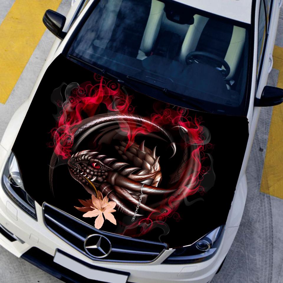 Car sticker design fire - Fire Dragon Car Stickers