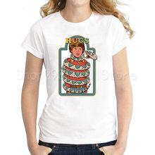 Nuevo vamos a llamar a los Demons camisetas mujeres demonio ritos Retro Vintage niños libro divertido Occult diablo Lycra mujeres T camisas(China)