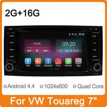 Quad Core Android 4.4 Car Stereo for VW Touareg T5 with Radio Bluetooth GPS Navigation Phonebook Microphone 2G RAM 16GB Flash